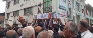 پیکر شهید تازه تفحص شده حسین رستمی روشن در رودسر تشییع شد+ تصاویر