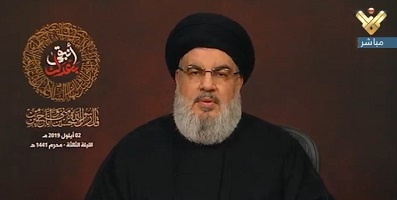 نصرالله: امام خامنهای فرمانده خیمهگاه ماست و او را تنها نمیگذاریم