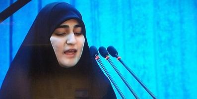 دختر سردارسلیمانی: آمریکا باید بداند که عاشورا منشا قدرت مجاهدین و آزادیخواهان و موجب وحشت دشمنان اسلام و انسانیت است/ خانوادههای سربازان آمریکایی منتظر مرگ فرزندانشان باشند