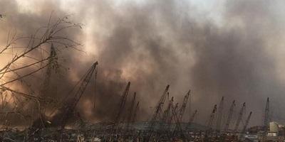 وقوع انفجار مهیب در بندر بیروت لبنان با ۷۸ کشته و ۴۰۰۰ زخمی