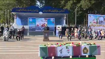 تشییع پیکر شهید تازه تفحص شده در رشت